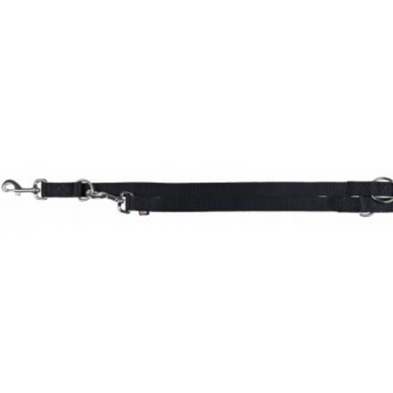Guinzaglio premium da addestramento L-XL 25 mm x 2 m NERO