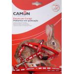 Parure pettorina e guinzaglio per conigli ROSSO