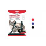 Parure pettorina e guinzaglio per gatti ROSSO