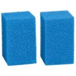 Spugna filtro acquario azzurra cm 8,5x8,5x13 grana fine 2pz
