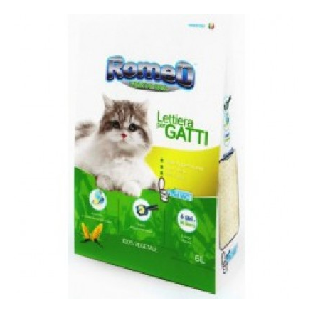 Romeo Vegetal-ball lettiera per gatti biodegradable con carboni attivi 6lt