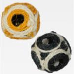 Pallina in sisal con campanello per gatti d. 6cm 1pz