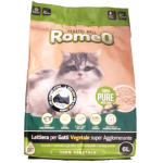 Romeo Vegetal-ball lettiera per gatti biodegradable con carboni attivi 6lt