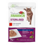 Natural trainer steriised Manzo - bocconcini gatto 85g