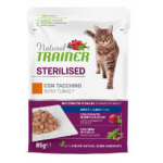 Natural trainer steriised Tacchino - bocconcini gatto 85g