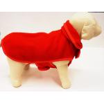 Giubbotto in pile doppio strato per cani cm. 24 ROSSO