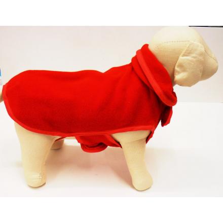 Giubbotto in pile doppio strato per cani cm. 36 ROSSO