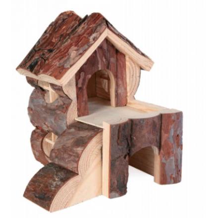 Casetta in legno Bjork per criceti e piccoli roditori cm 15x15 h 16