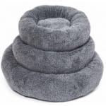 Cuscino ciambella con pelliccia d. 50 cm