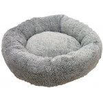 Cuscino ciambella con pelliccia d. 60 cm