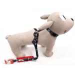 Parure pettorina e guinzaglio per cani piccoli o cuccioli NERO