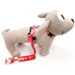 Parure pettorina e guinzaglio per cani piccoli o cuccioli ROSA