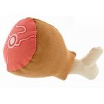 Gioco in peluche per cani coscia di pollo d. 7cm x 16cm