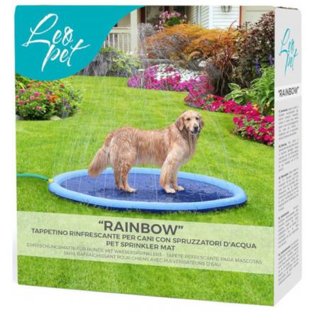 Rainbow Tappetino rinfrescante con spurzzi per cani d. 150cm