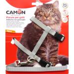 Parure pettorina e guinzaglio per gatti grandi GRIGIO