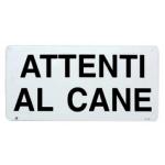 Cartello ATTENTI AL CANE cm 25x12,5