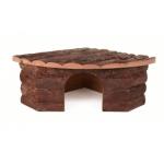 Casetta angolare Jesper in legno naturale per conigli cm30x30h15