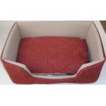 Cesta rettangolare imbottita con cuscino cm 56x42 h 22
