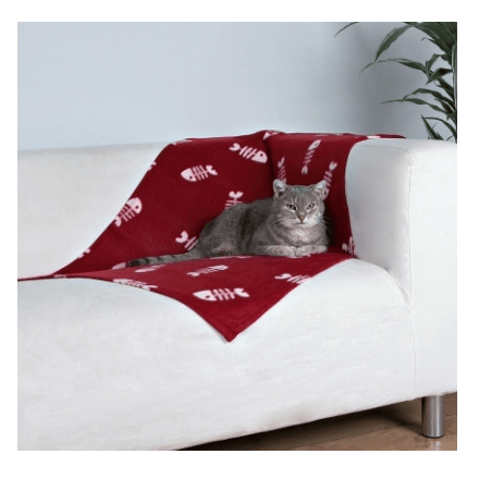 Coperta in pile BEANY ROSSO cm 100x70