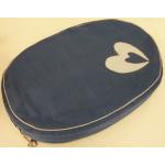 Cuscino sfoderabile ovale cm 60x40 h10 BLU