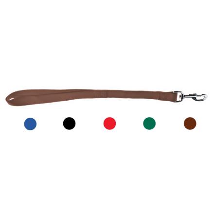 Guinzaglio a manigliotto corto NERO mm 25 x 450