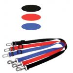 Guinzaglio attacco cintura di sicurezza mm 25 x 350-550 NERO
