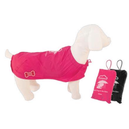 Impermeabile Tascabile per cani tg. 65 NERO