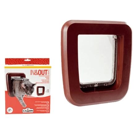 IN&OUT Portina da vetro basculante MARRONE, FLAP mm155x150