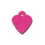 Medaglietta cuore FUCSIA S mm 25x28 con incisione nome e numero