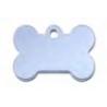 Medaglietta osso AZZURRO S mm 30x19 con incisione nome e numero