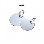 Medaglietta tonda in metallo con incisione nome e telefono