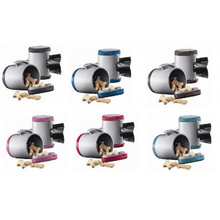 Multibox - Portasacchetti per guinzagli flexi NERO