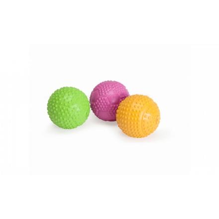 Palla piena in spessa gomma dura con squittio d.7,5cm