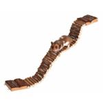 Rampa pieghevole in legno naturale per criceti e piccoli roditori cm 7x55