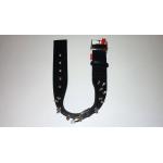 Collare in Nylon special di qualità con 2 file di borchie mm 40 x 460 NERO