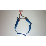 Collare in Nylon a semistrozzo con catena BLU mm 15x500