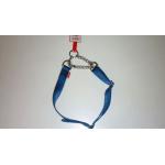 Collare in Nylon a semistrozzo con catena BLU mm 25x850
