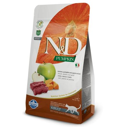 N&D cervo, zucca e mela - secco gatto 300g