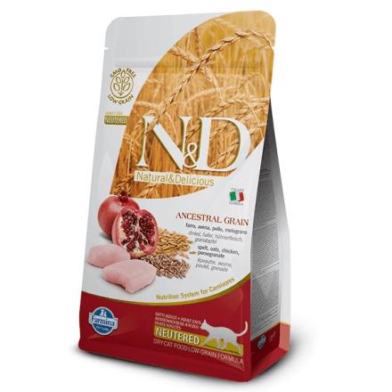 N&D Neutered gatto pollo e melograno low grain 300g