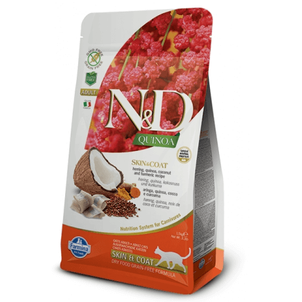 N&D Skin & Coat gatto arringhe e quinoa 300g