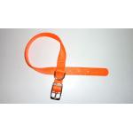 Collare in Nylon special di qualità ARANCIO FLUO mm 15X400