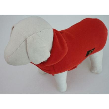 Giubbotto in pile doppio strato per cani cm. 30 ROSSO