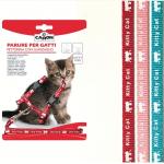 Parure pettorina e guinzaglio per gattini ROSSO