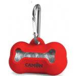 Portasacchetti in silicone per cane ROSSO