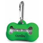 Portasacchetti in silicone per cane VERDE