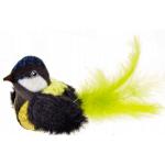 Uccellino sonoro in peluche per gatti cm 8