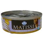 Matisse, Mousse con sardine completa umido gatto 85g