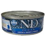 N&D Ocean, Merluzzo, Gambero eZucca KITTEN umido gatto 80g