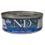 N&D Ocean, Spigola, Calamaro eGambero umido gatto 80g