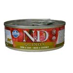 N&D Quinoa Skin Coat - Anatra eCocco umido gatto 80g